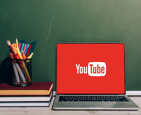 youtube on laptop